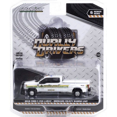 Greenlight Dually Drivers Series 6 - 2018 Ford F-350 Dually Broward County Sheriff