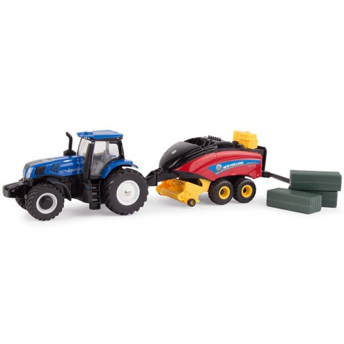 Ertl New Holland T8.380 Tractor with 330 Big Baler