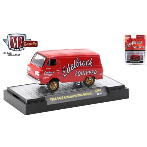 M2 Machines Hobby Exclusive - 1964 Ford Econoline Van Gasser Edelbrock Equipped