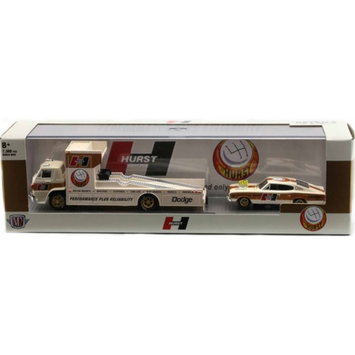 M2 Machines Auto-Haulers Release 42 - 1966 Dodge L600 Ramp Truck with 1966 Dodge Charger HEMI