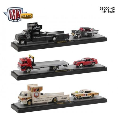 M2 Machines Auto-Haulers Release 42 -  Three Truck Set