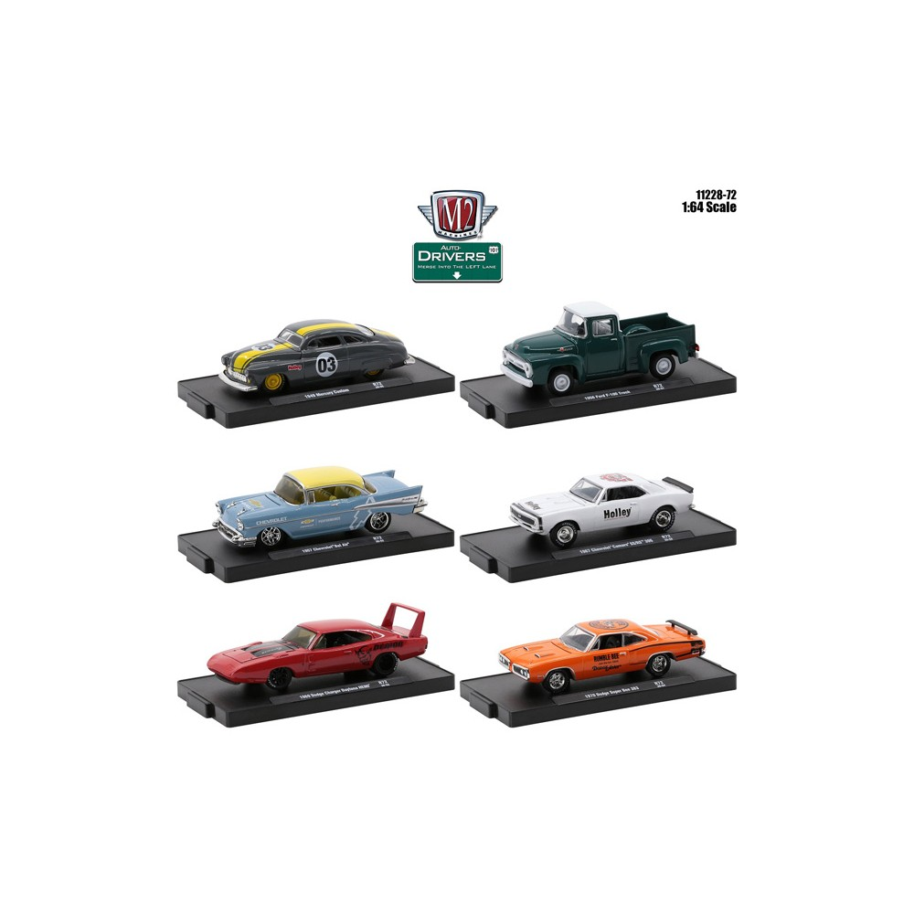 M2 Machines Drivers Release 72 - Six Car Set