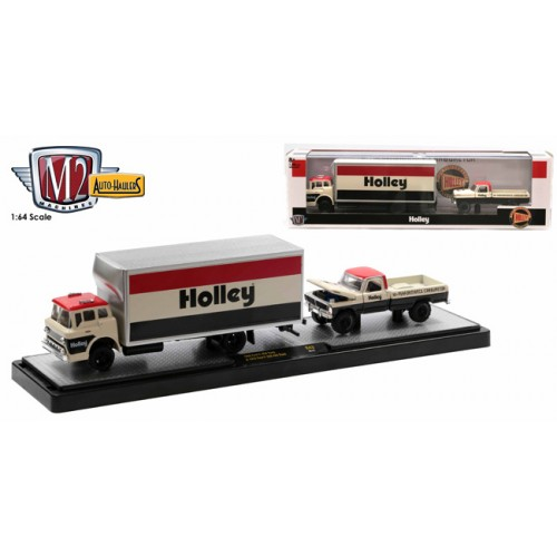 M2 Machines Auto-Haulers Release 43 - 1966 Ford C-950 with 1972 Ford F-250 Explorer 4x4