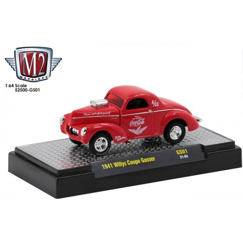 M2 Machines Coca-Cola Gassers Release 1 - 1941 Willys Coupe Gasser