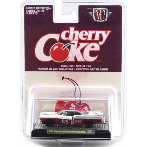 M2 Machines Coca-Cola Race Cars Release 4 - 1957 Dodge Custom Royal Lancer Super D500