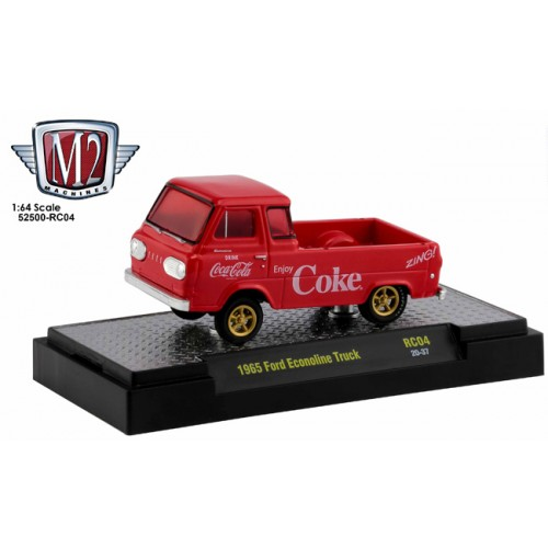 M2 Machines Coca-Cola Race Cars Release 4 - 1965 Ford Econoline Truck