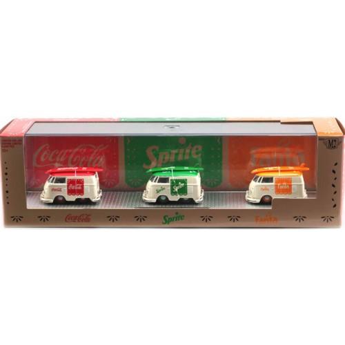 M2 Machines Coca-Cola Auto-Haulers Release TW06 - 1960 Volkswagen Delivery Van Set