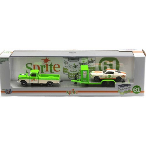 M2 Machines Coca-Cola Auto-Haulers Release TW06 - 1967 Ford F-100 Custom Cab Truck with 1965 Shelby GT 350R