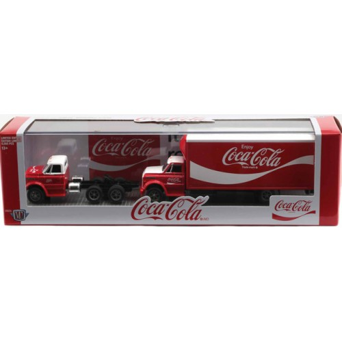 M2 Machines Coca-Cola Auto-Haulers Release TW06 - 1970 Chevy C-60 with 1970 Chevy C-60 Box Truck