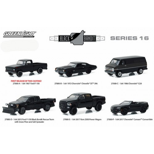 Black Bandit Series 16 - SET