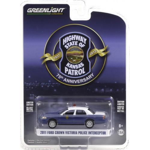 Greenlight Anniversary Collection Series 12 -  2011 Ford Crown Victoria Police Interceptor - Kansas Highway Patrol