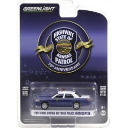Greenlight Anniversary Collection Series 12 -  2011 Ford Crown Victoria Police Interceptor - Kansas Highway Patrol