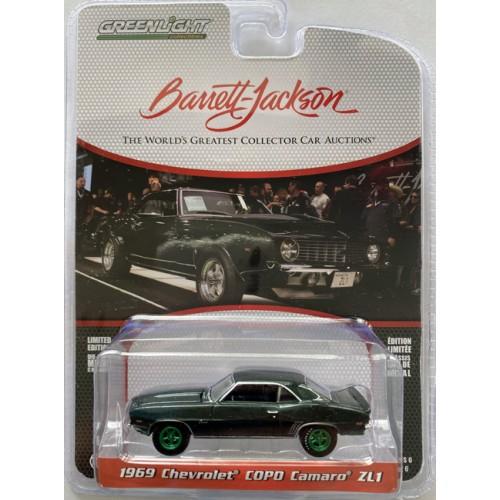 Greenlight Barrett-Jackson Series 6 - 1969 Chevrolet COPO Camaro ZL1 Green Machine Chase Version