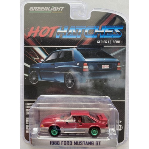 Greenlight Hot Hatches Series 1 - 1988 Ford Mustang GT Green Machine Chase Version