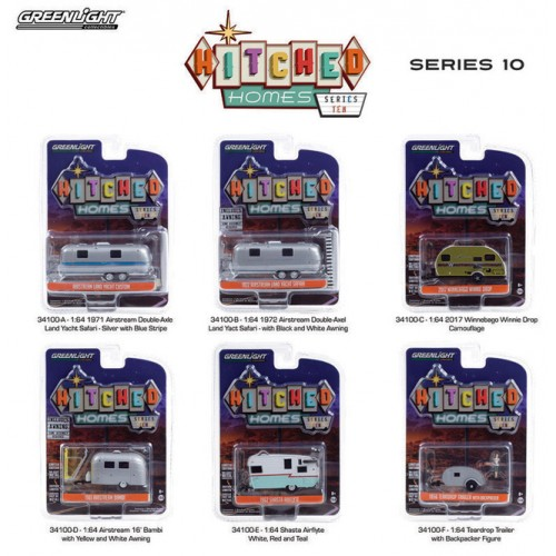 Greenlight Hitched Homes Series 10 - Six Trailer Set