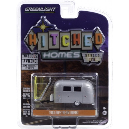 Greenlight Hitched Homes Series 10 - Airstream Bambi Camper Trailer