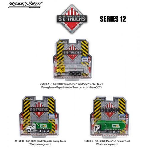 Greenlight S.D. Trucks Series 12 - Three Truck Set