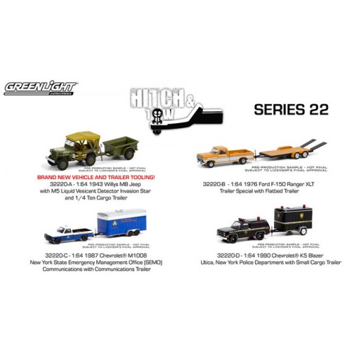 Greenlight Hitch and Tow Series 22 - Set
