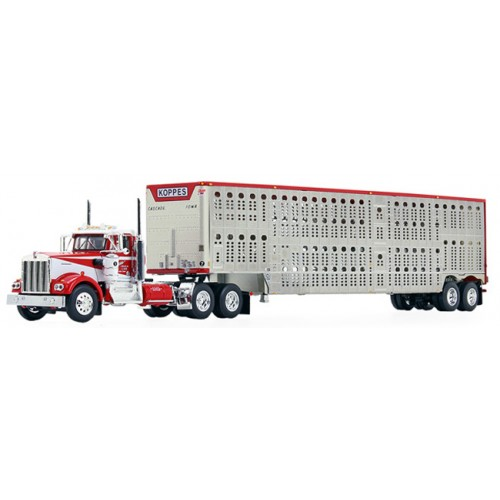 DCP by First Gear Kenworth W900A with Wilson Livestock Trailer Koppes