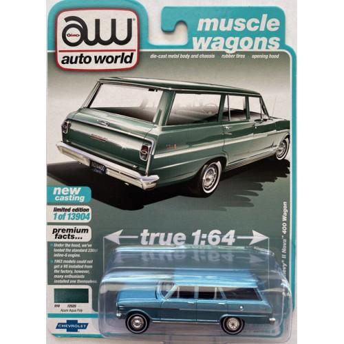 Auto World Premium 2021 Release 2B - 1963 Chevy II Nova 400 Wagon