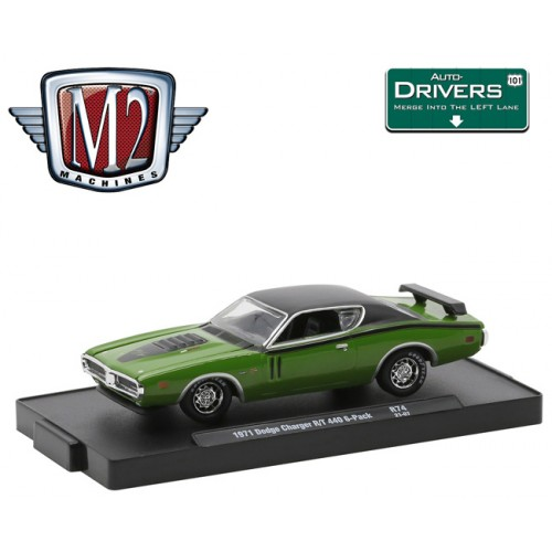 M2 Machines Drivers Release 74 - 1971 Dodge Charger R/T 440 6-Pack