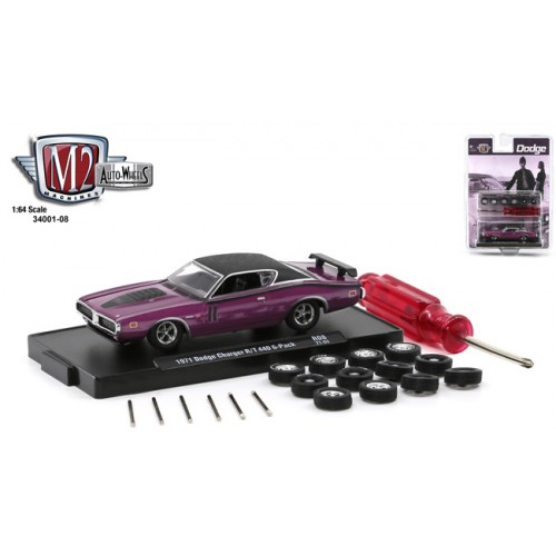 M2 Machines Auto-Wheels Release 8 - 1971 Dodge Charger R/T 440 6-Pack