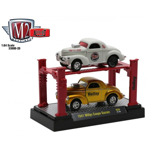 M2 Machines Auto-Lifts Release 20 - 1941 Willys Coupe 2 Car Set