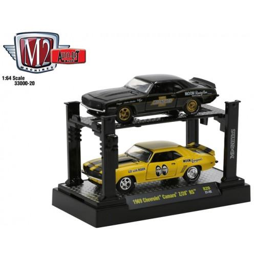 M2 Machines Auto-Lifts Release 20 - 1969 Chevrolet Camaro Z/28 RS Mooneyes Set