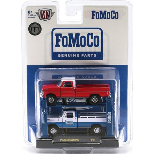 M2 Machines Auto-Lifts Release 20 - 1969 Ford F-100 and 1972 Ford F-250 Set