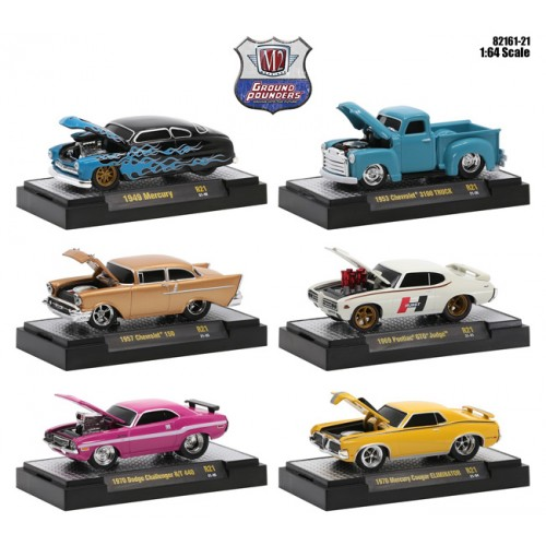 M2 Machines Ground Pounders Release 21 - Six Car Set