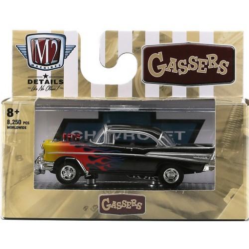 M2 Machines Detroit Muscle Release 55 - 1957 Chevrolet Bel Air Gasser