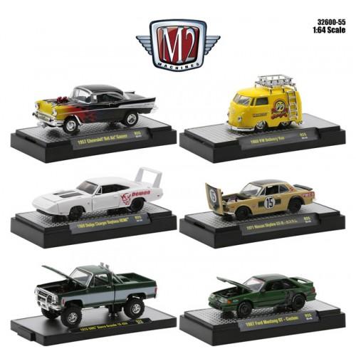 M2 Machines Detroit Muscle Release 55 - Six Car Set