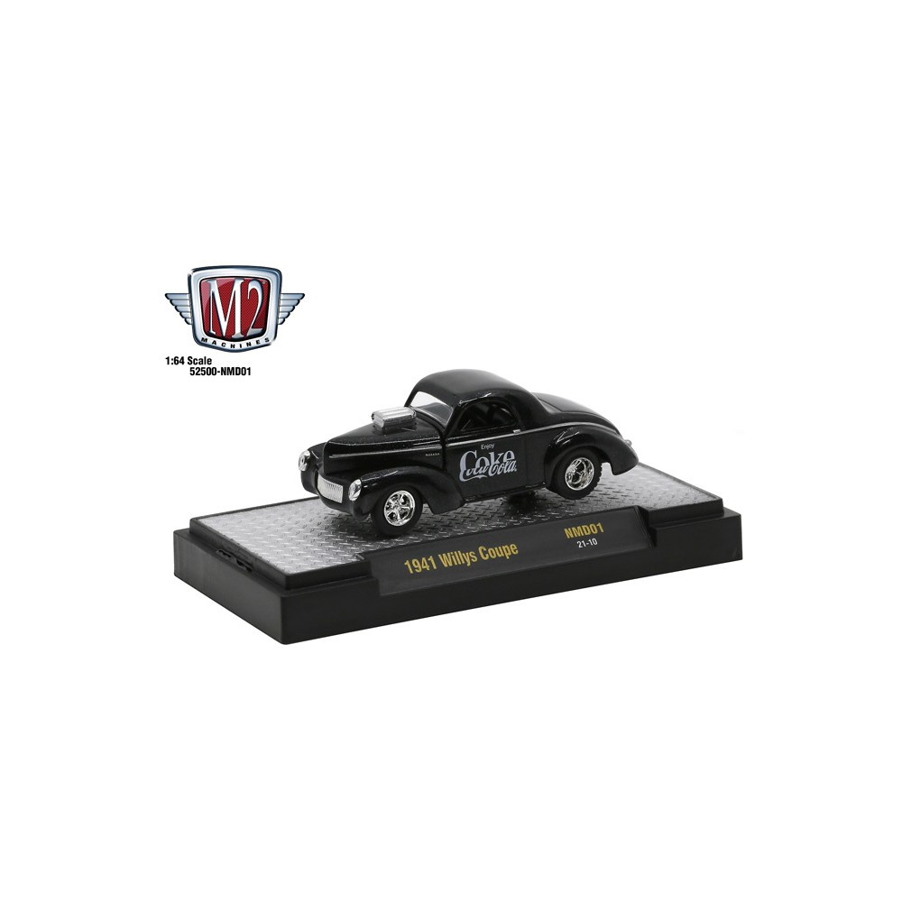 M2 Machines Coca-Cola Release NMD01 - 1941 Willys Coupe