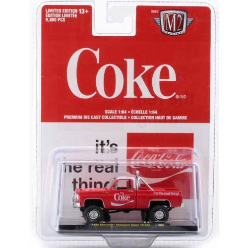 M2 Machines Coca-Cola Release A07 - 1973 Chevrolet Cheyenne Super 10 4x4