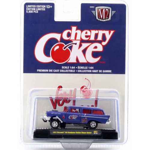 M2 Machines Coca-Cola Release A07 - 1957 Chevrolet 150 Handyman Station Wagon Gasser