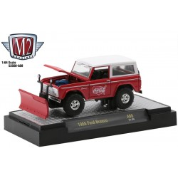 M2 Machines Coca-Cola Release A08 - 1966 Ford Bronco with Snow Plow