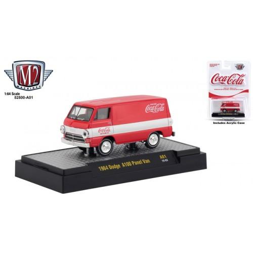 M2 Machines Coca-Cola Release A01 - 1964 Dodge A100 Panel Van
