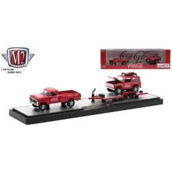 M2 Machines Coca-Cola Haulers Release TW11 - 1972 Ford F-250 Explorer with 1966 Ford Bronco