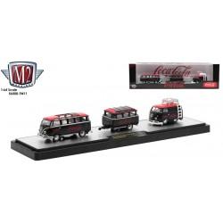 M2 Machines Coca-Cola Haulers Release TW11 - 1960 Volkswagen Microbus with Camper Trailer and 1960 Volkswagen Delivery Van