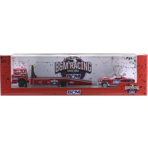 M2 Machines Auto-Haulers Release 44 - 1970 Ford C-600 with 1966 Ford Mustang Gasser