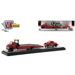 M2 Machines Auto-Haulers Release 45 - 1958 Dodge COE with 1941 Willys Coupe Gasser