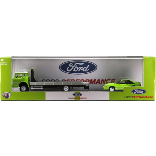 M2 Machines Auto-Haulers Release 45 - 1990 Ford C-8000 with 1988 Ford Mustang GT Custom