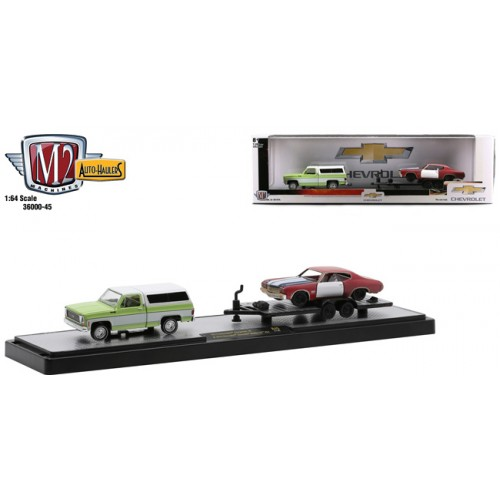 M2 Machines Auto-Haulers Release 45 - 1973 Chevy Cheyenne 10 with 1970 Chevy Chevelle Malibu SS 454