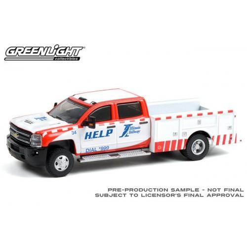 Greenlight Dually Drivers Series 7 - 2018 Chevrolet Silverado 3500 Dually Service Bed