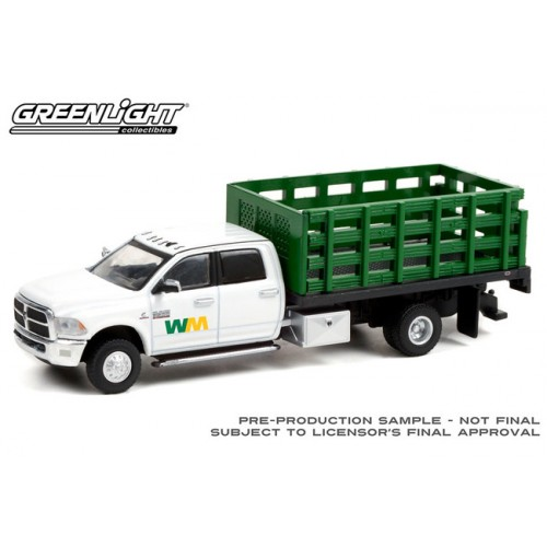 Greenlight Dually Drivers Series 7 - 2018 RAM 3500 Dually Stake Truck Waste Management