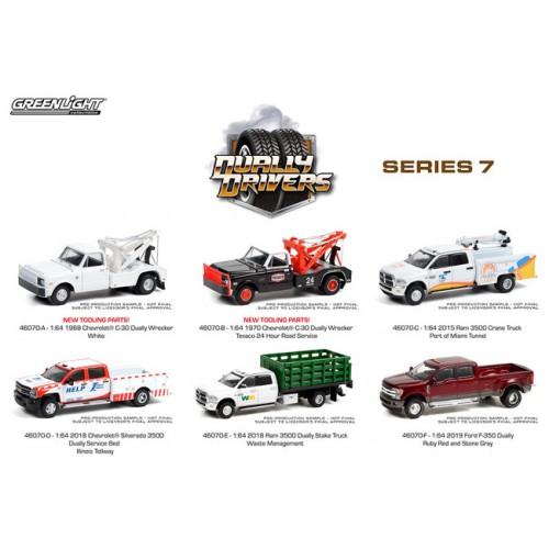 Greenlight Dually Drivers Series 7 - Six Truck Set