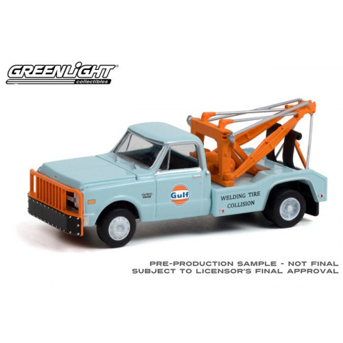 Greenlight Hobby Exclusive - 1969 Chevrolet C-30 Dually Wrecker Gulf