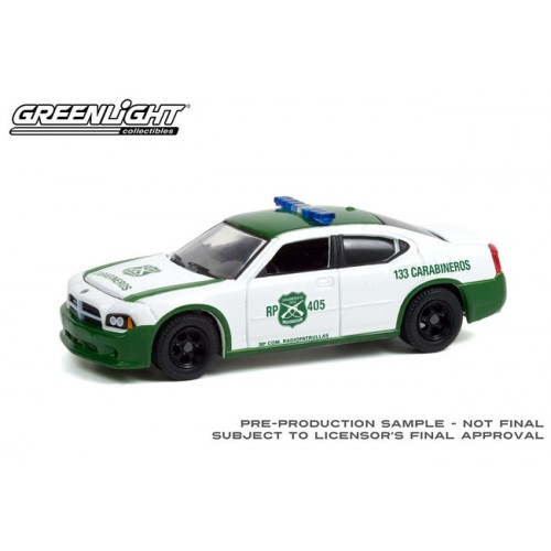 Greenlight Hobby Exclusive - 2006 Dodge Charger Carabineros De Chile