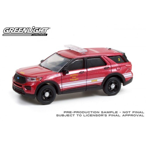 Greenlight Hobby Exclusive - 2020 Ford Police Interceptor Utility Detroit Fire Department