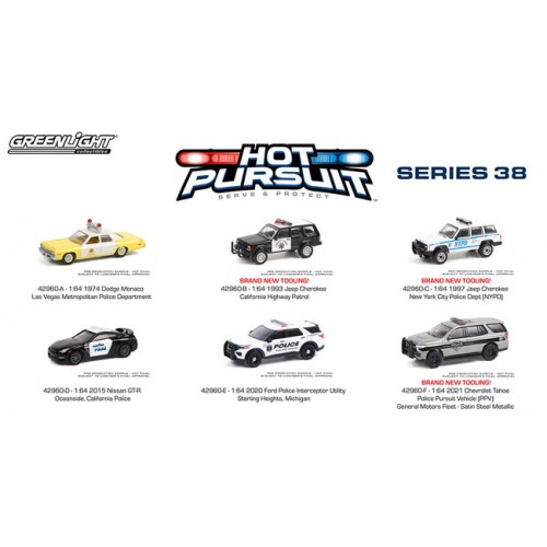 Greenlight Hot Pursuit Series 38 - Six Car Set